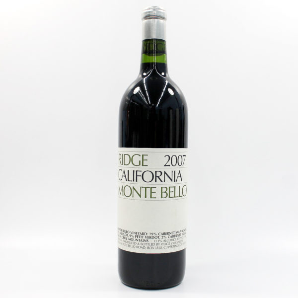 Sell your wine: 2007 Ridge Monte Bello